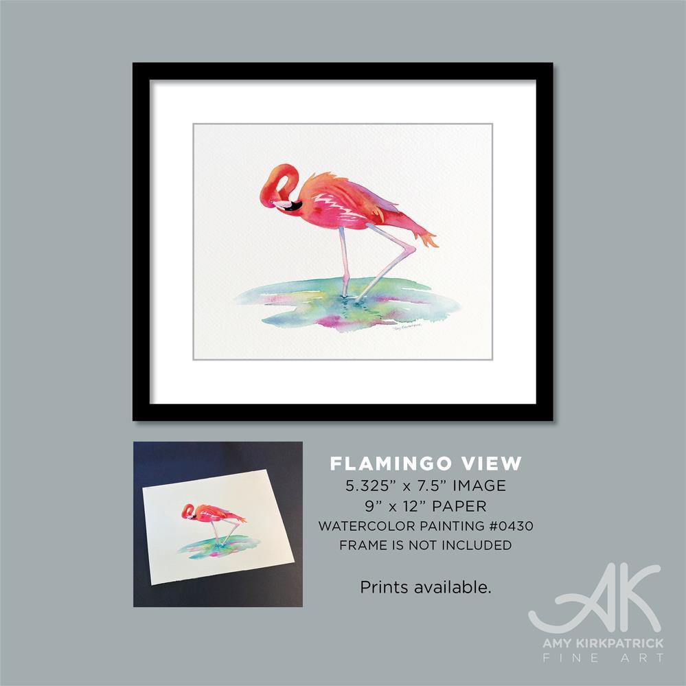 """FLAMINGO VIEW #0434 (horizontal)"" original fine art by Amy Kirkpatrick"