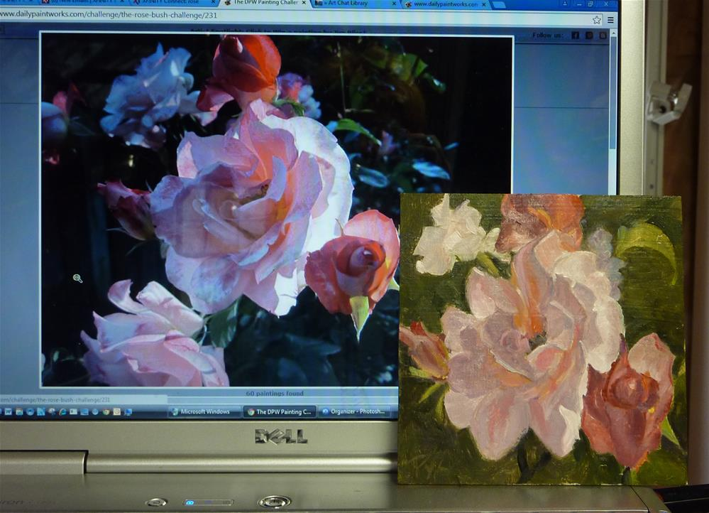 """Rose Garden"" original fine art by Mary Pyche"