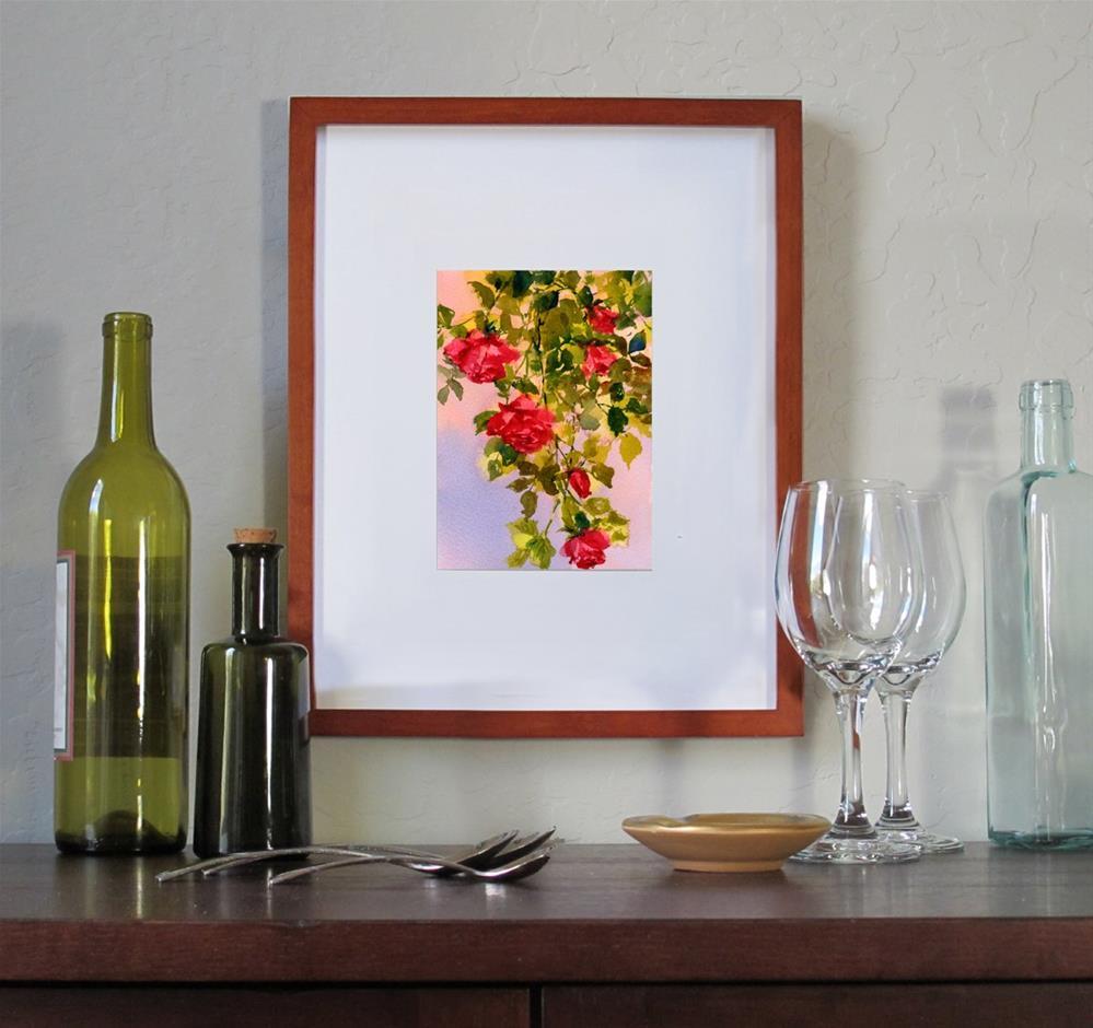"""""""Rose Cascade"""" original fine art by Linda Henry"""