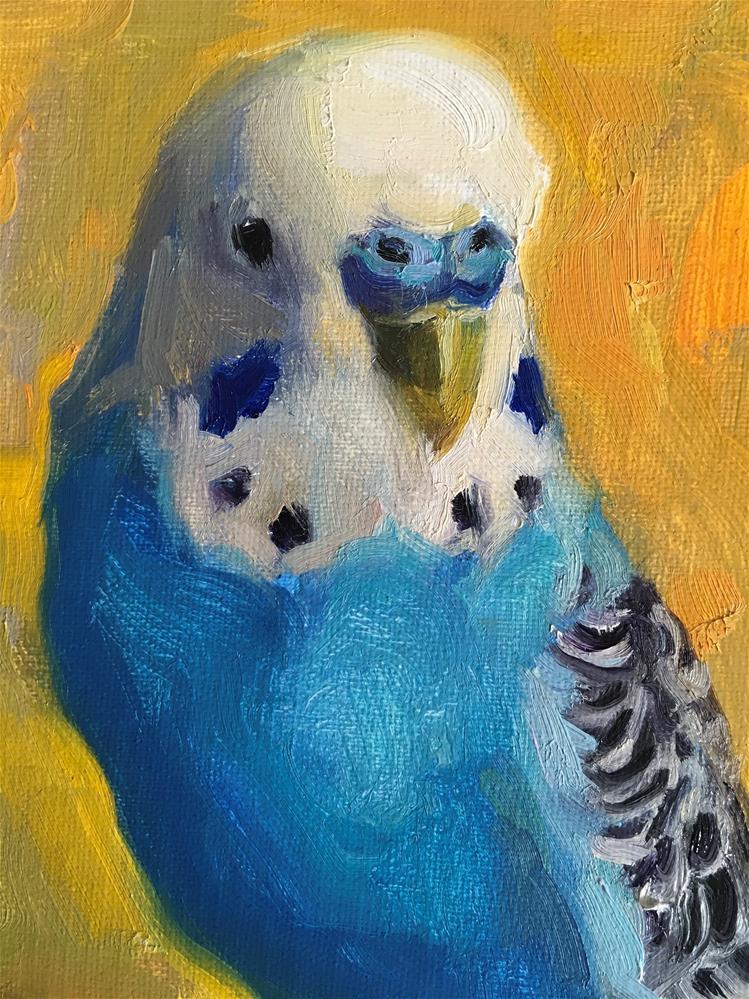 """Budgie73"" original fine art by Katya Minkina"