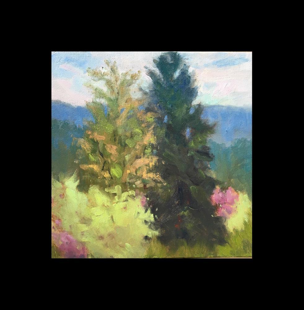 """Tall Trees"" original fine art by Victoria  Biedron"