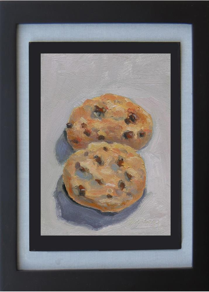 """Chocolate Chip Cookies"" original fine art by Rhett Regina Owings"