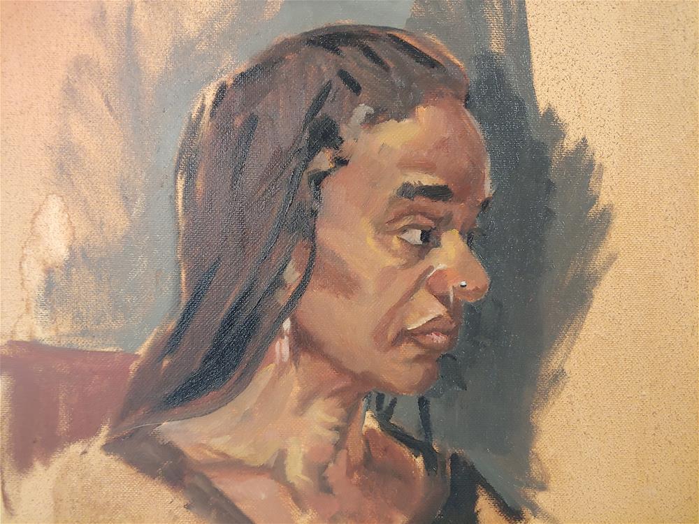 """""""Figure Painting Class Pose 2"""" original fine art by Edward Watson"""