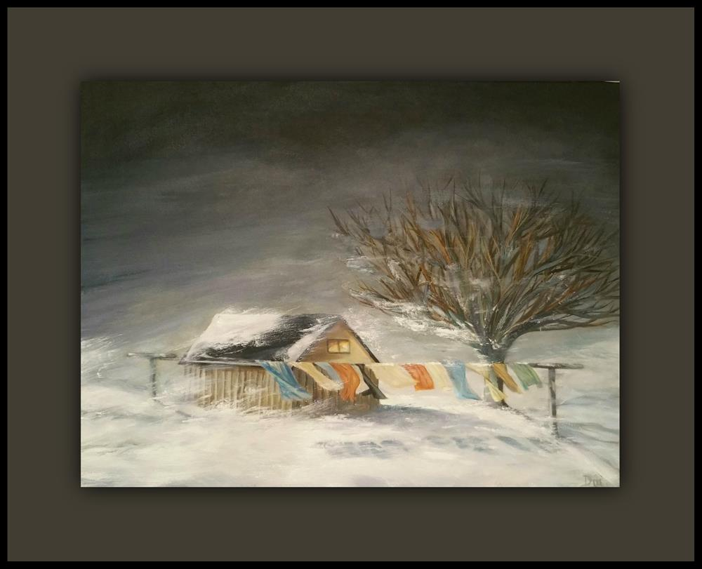 """Winter - Storm"" original fine art by Dana C"