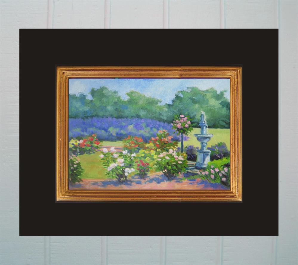 """Roses in the Lavender Fields"" original fine art by Rhett Regina Owings"