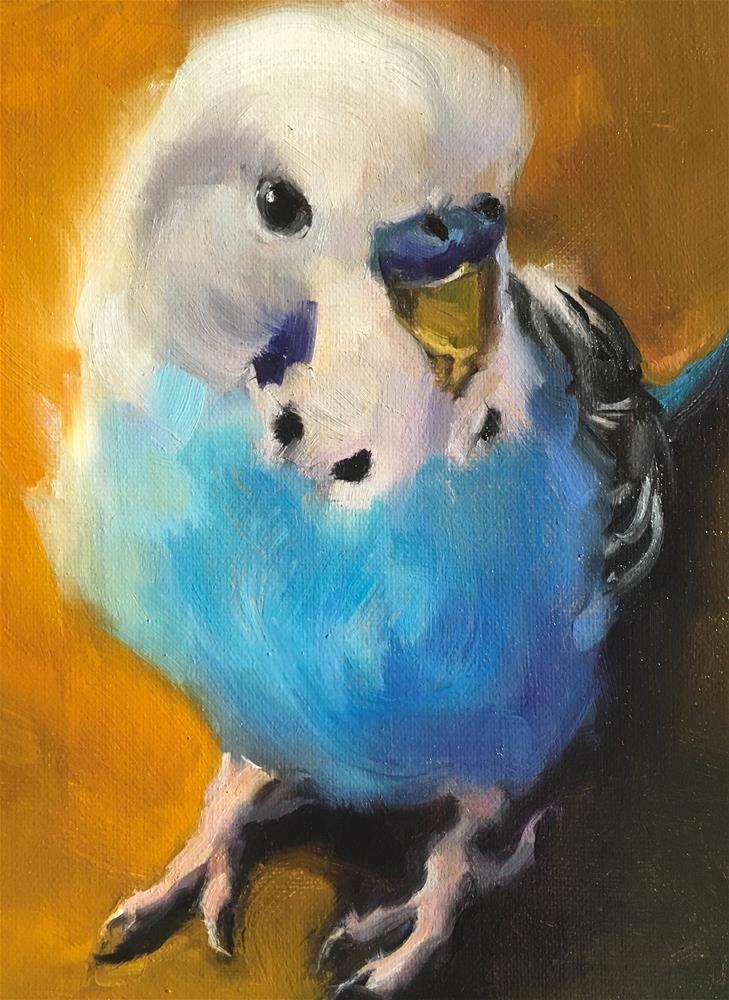 """Budgie67_oil"" original fine art by Katya Minkina"