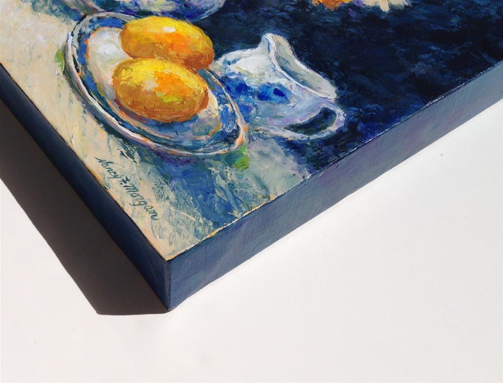 """Blue and White"" original fine art by Nancy F. Morgan"