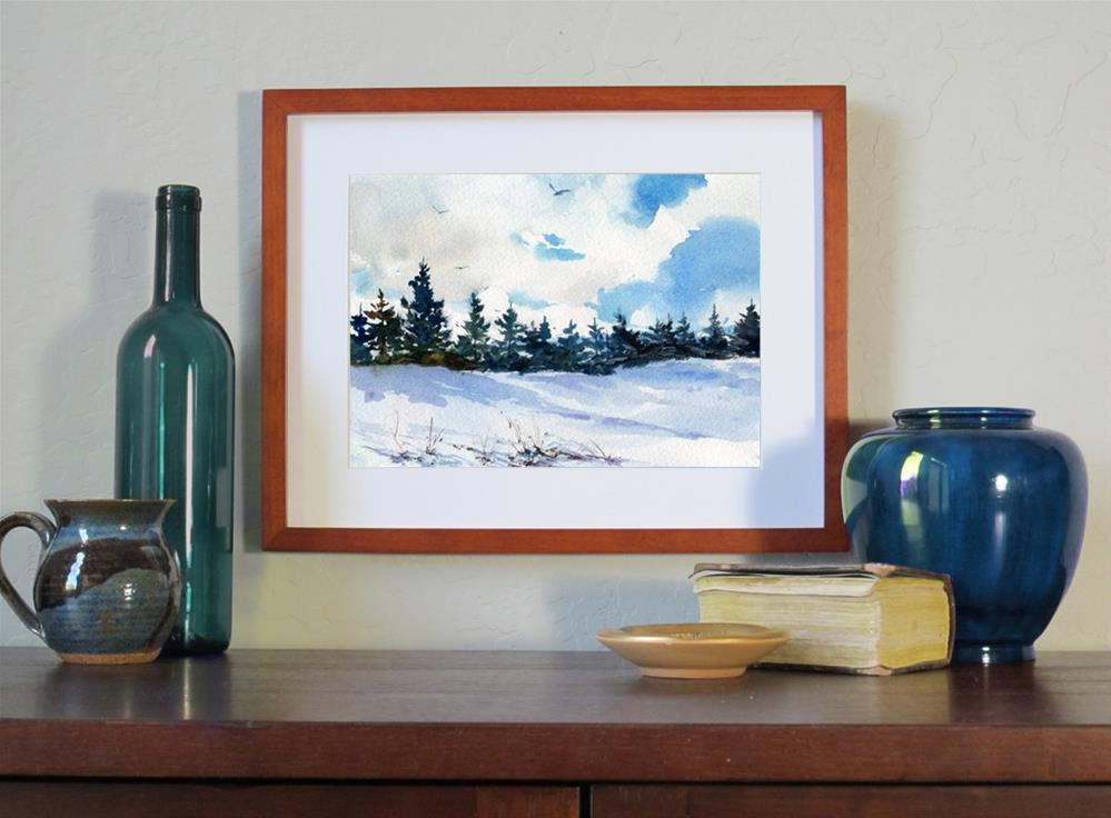 """Ski Country"" original fine art by Linda Henry"