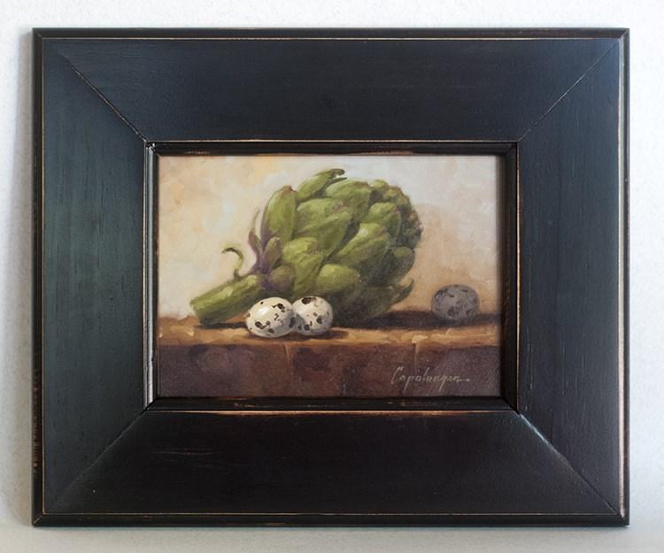 """Artichoke And Quail Eggs"" original fine art by David Capalungan"