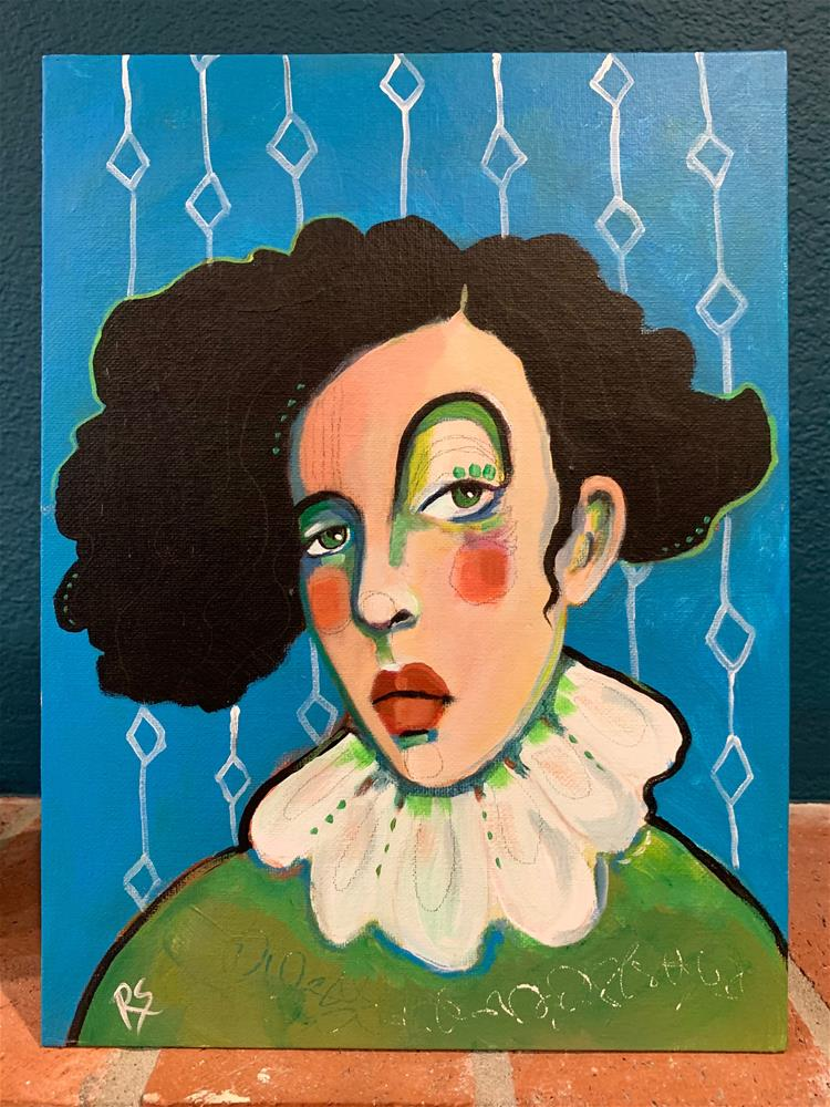 """""""#7 The Girl Who Loved the Circus"""" original fine art by Roberta Schmidt ArtcyLucy"""