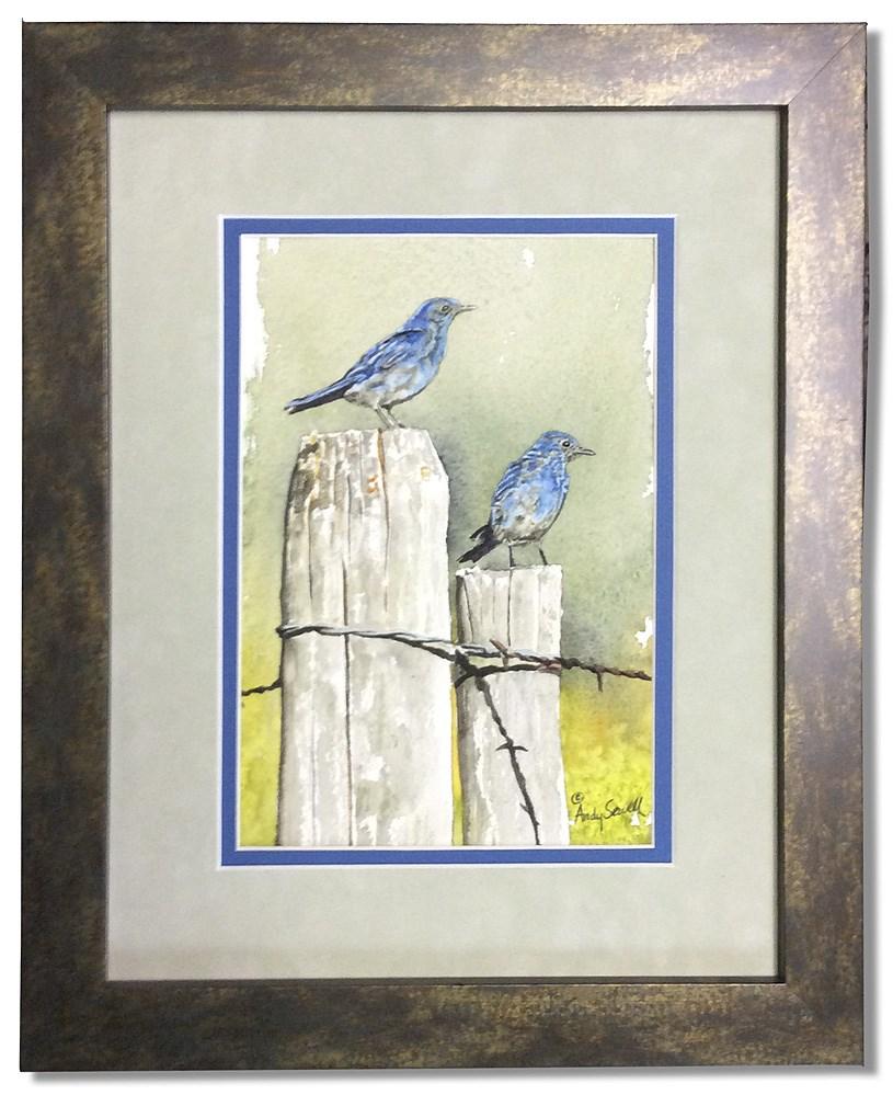 """Idaho Blues"" original fine art by Andy Sewell"