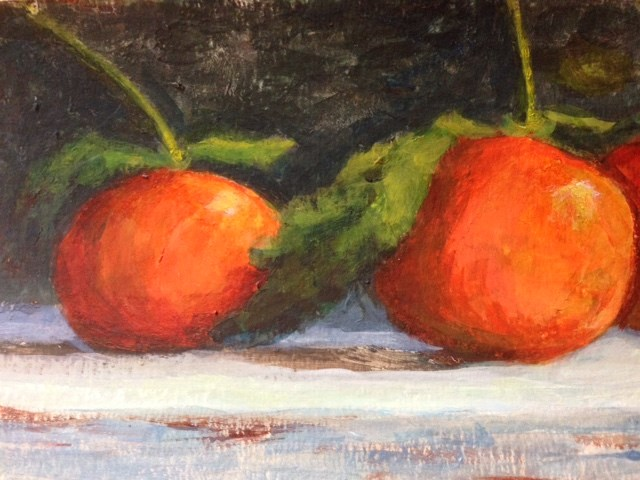 """Two Tangerines"" original fine art by Judith Anderson"