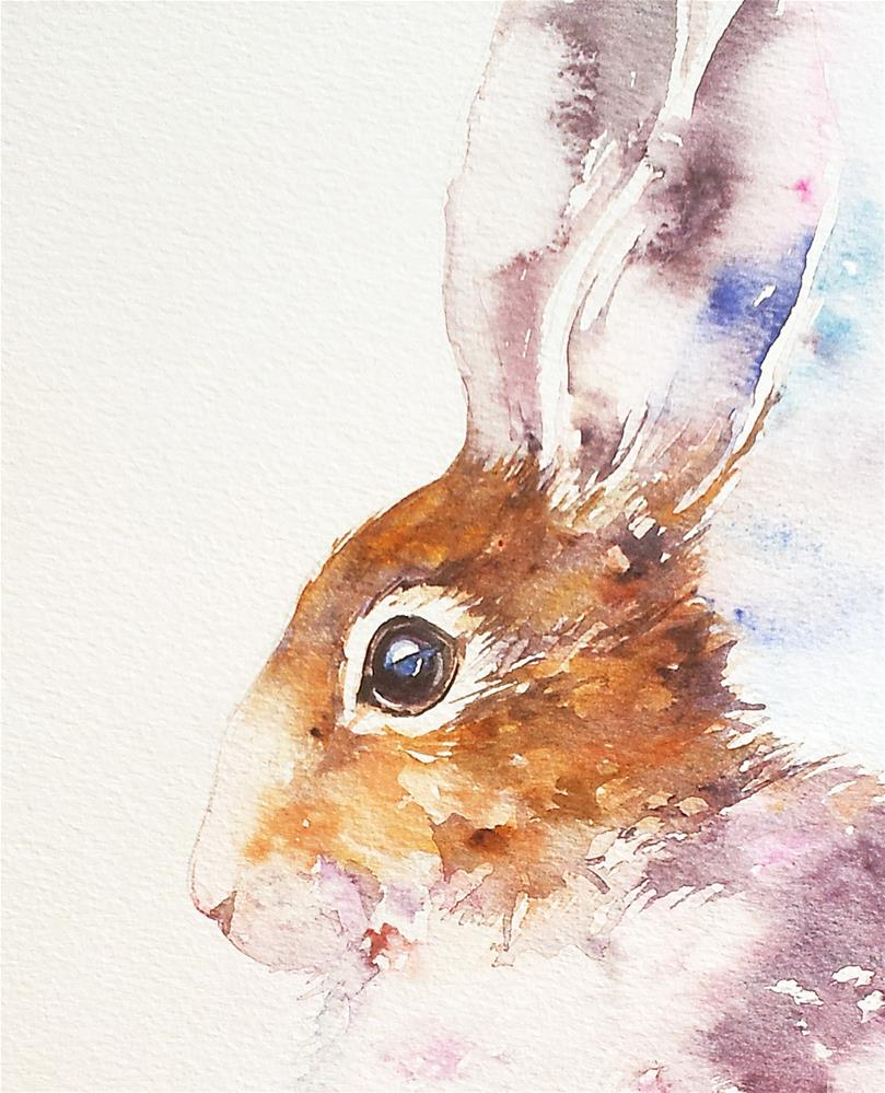 """Bella the Bunny"" original fine art by Arti Chauhan"