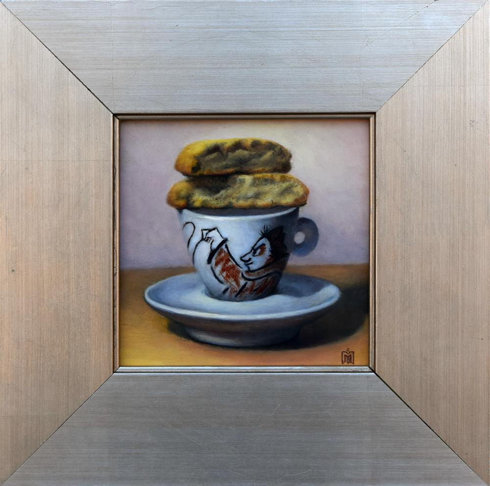 """Breakfast with Fellini II"" original fine art by Melissa  Imossi"