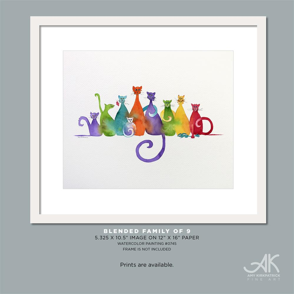 """BLENDED FAMILY OF 9 (#744)"" original fine art by Amy Kirkpatrick"