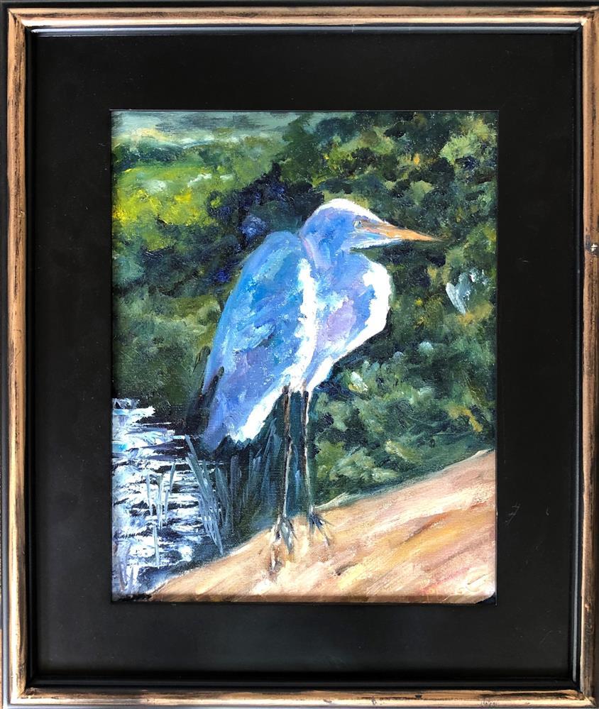 """Egret Glow"" original fine art by Renee Robison"