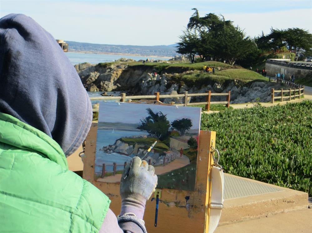 """Afternoon Walk"" original fine art by Rhett Regina Owings"