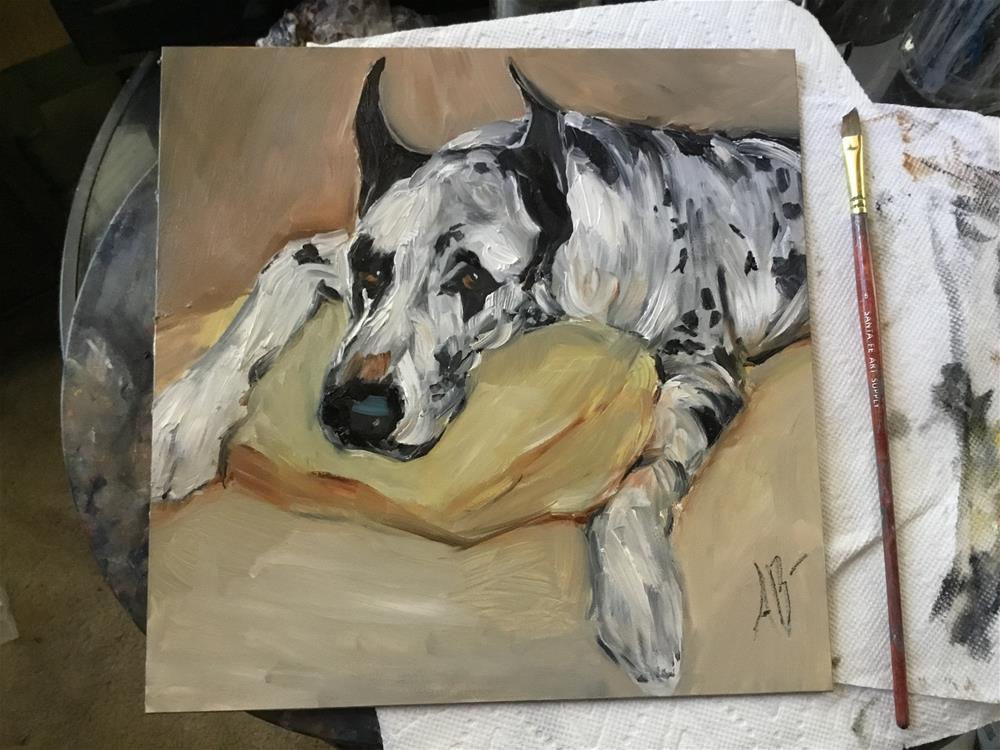 """Great Dane Spotted"" original fine art by Annette Balesteri"