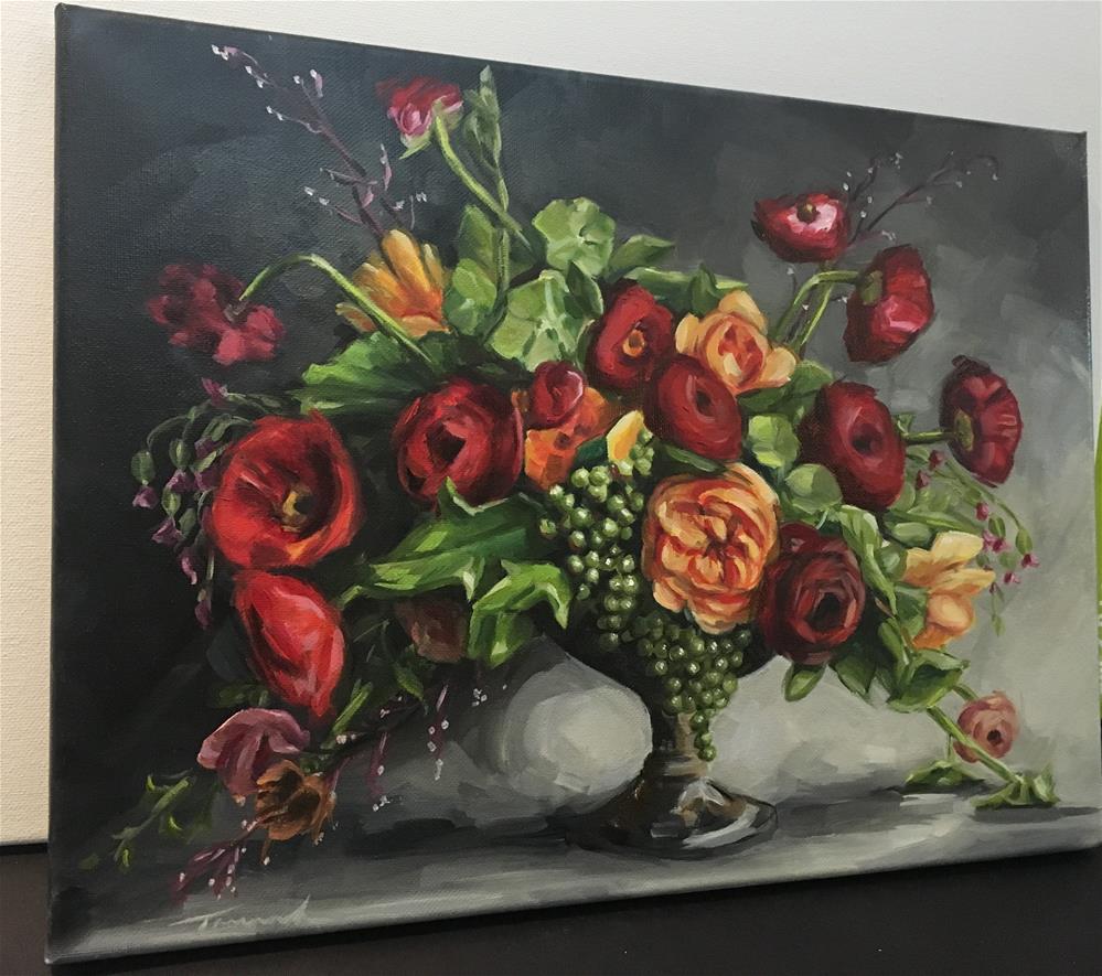 """Poppy Pot "" original fine art by Tamanda Elia"