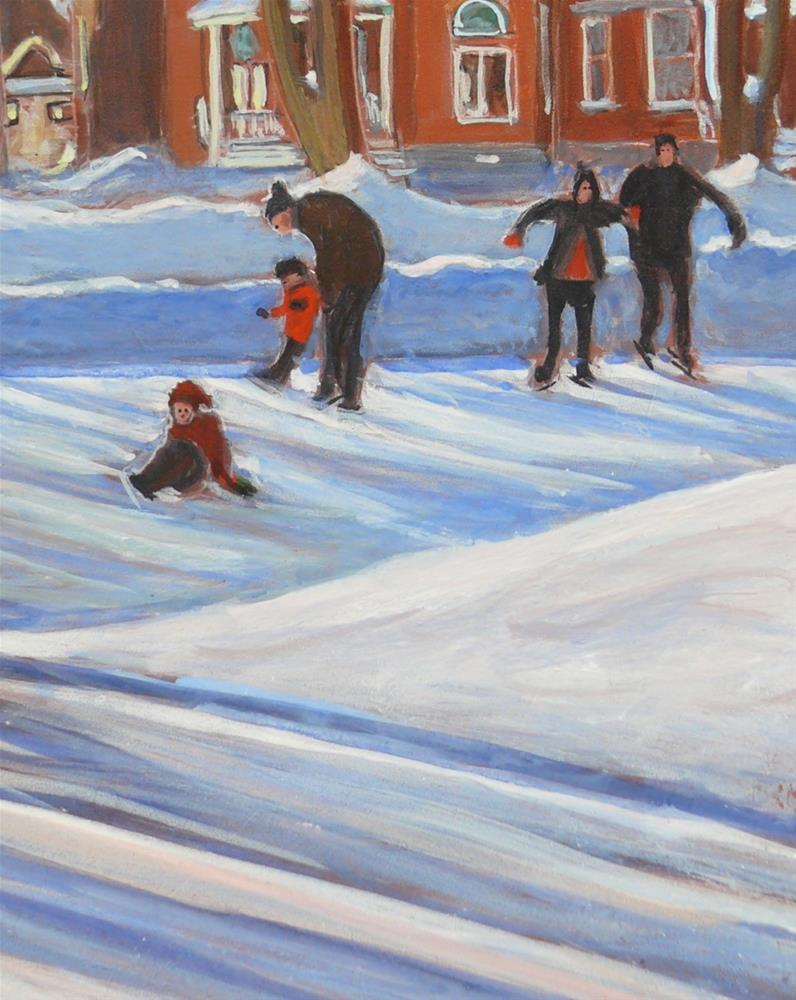 """""""1176 Learning to Skate"""" original fine art by Darlene Young"""