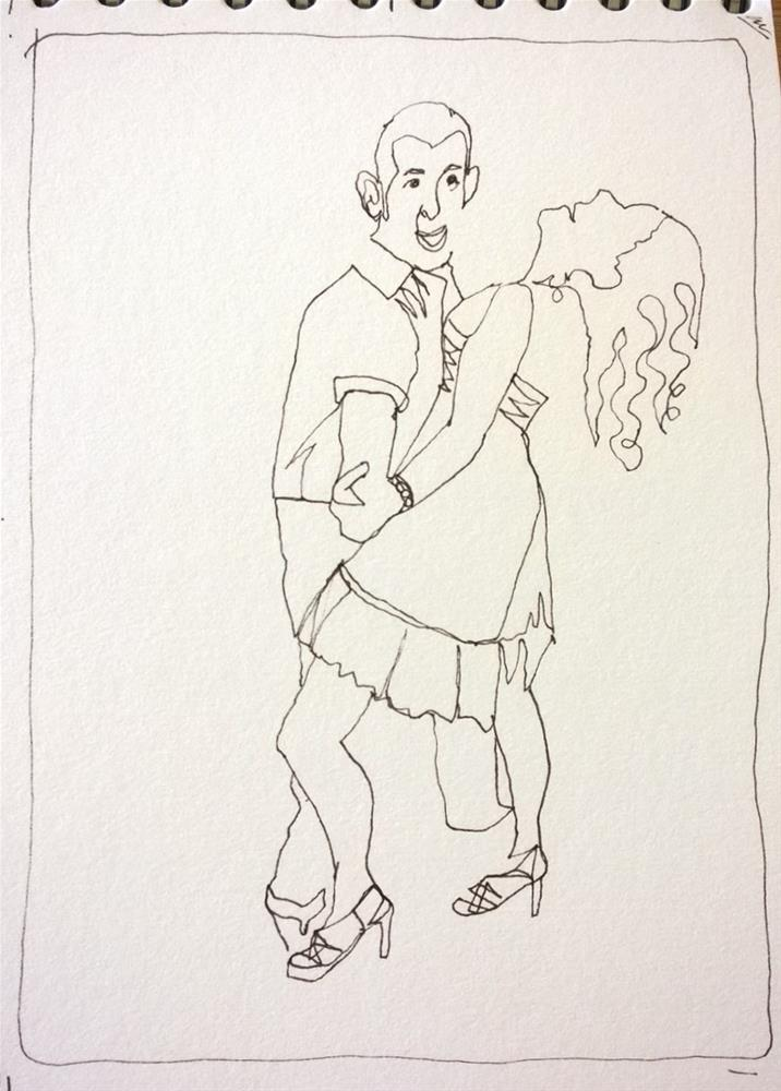 """After Dance Alli and Eric"" original fine art by Crisynda Buss"