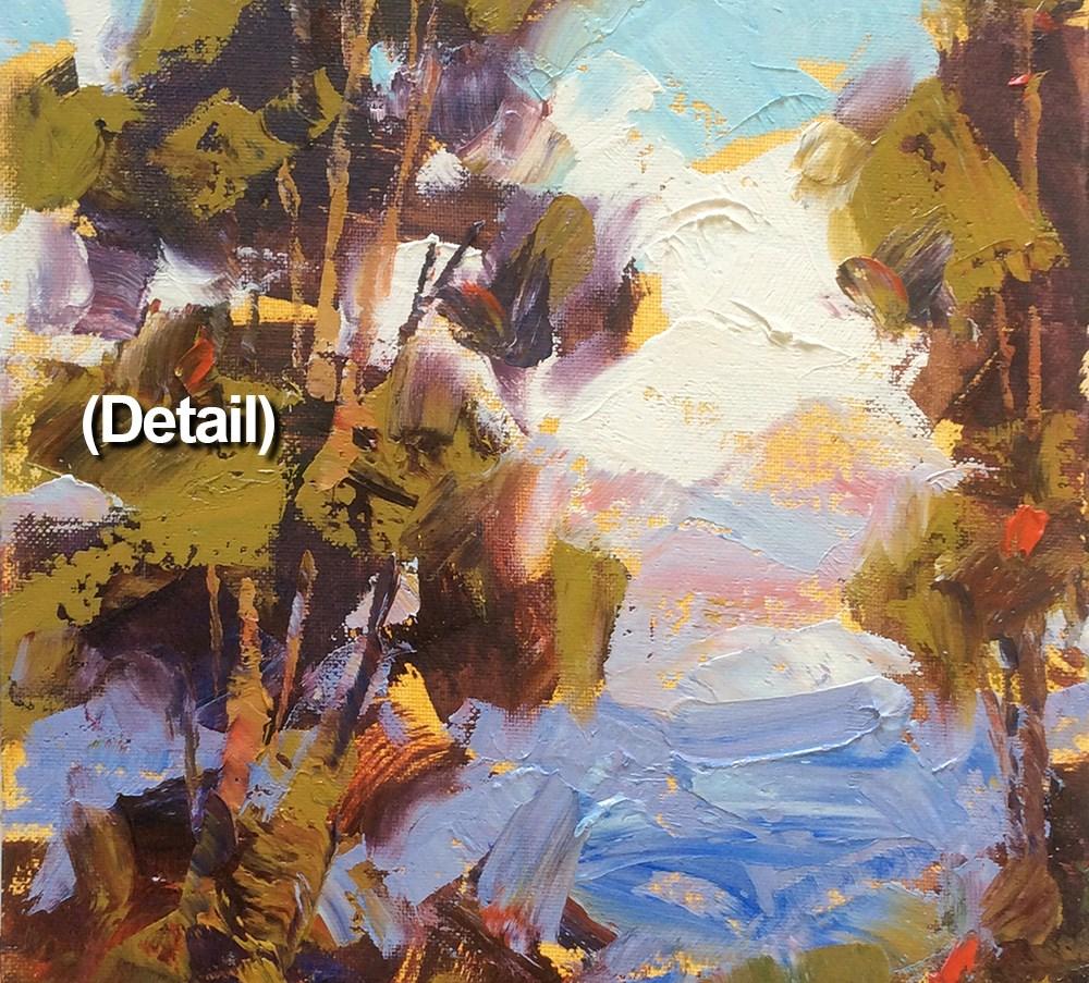 """STATELY EUCALYPTUS"" original fine art by Tom Brown"