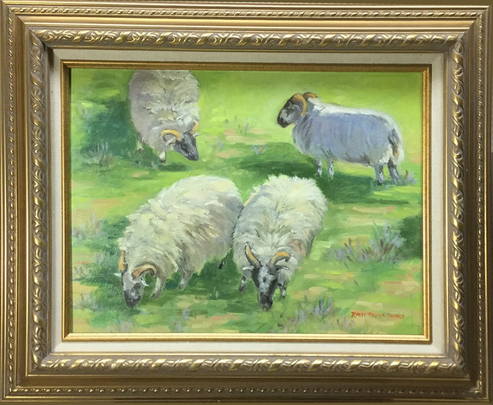 """Four Sheep"" original fine art by Rhett Regina Owings"