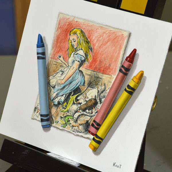"""Alice Growing Up"" original fine art by Kim Testone"