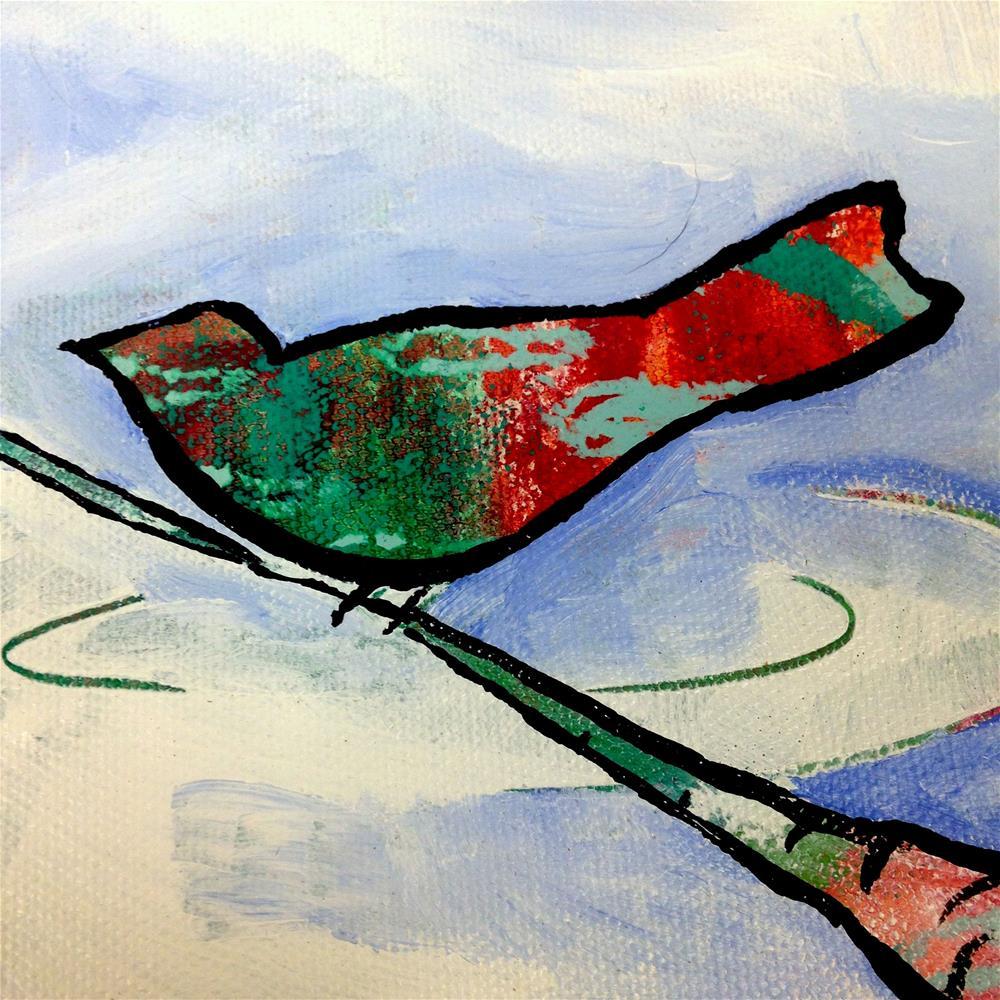 """A Frosty Dip"" original fine art by Nicole Saunders"