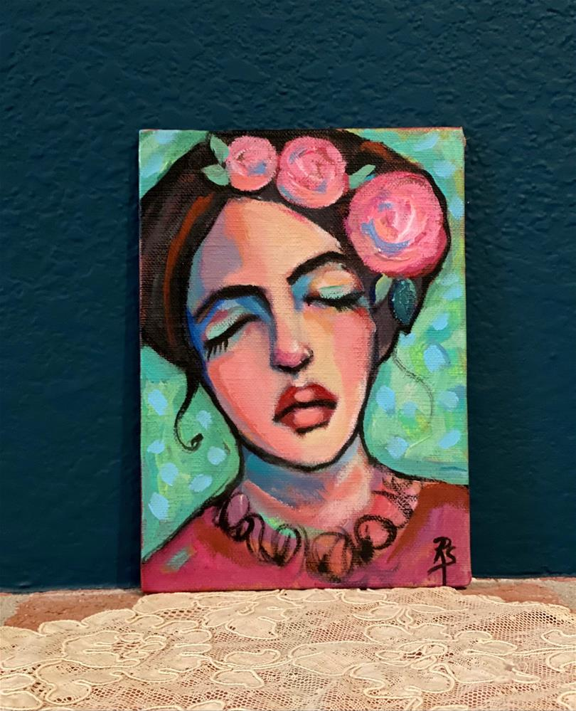 """Flowers and Dreams"" original fine art by Artcylucy Art by Roberta Schmidt"
