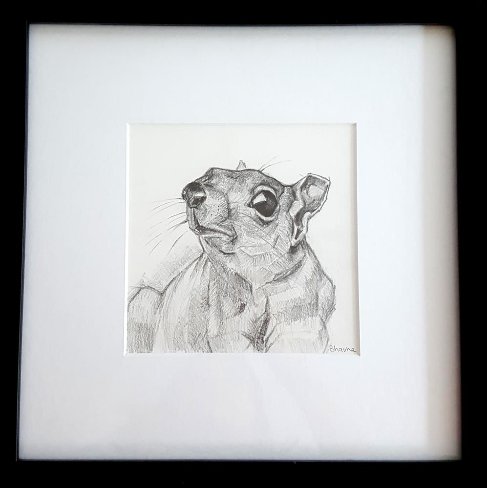 """""""Are We There Yet - Framed Drawing"""" original fine art by Bhavna Misra"""