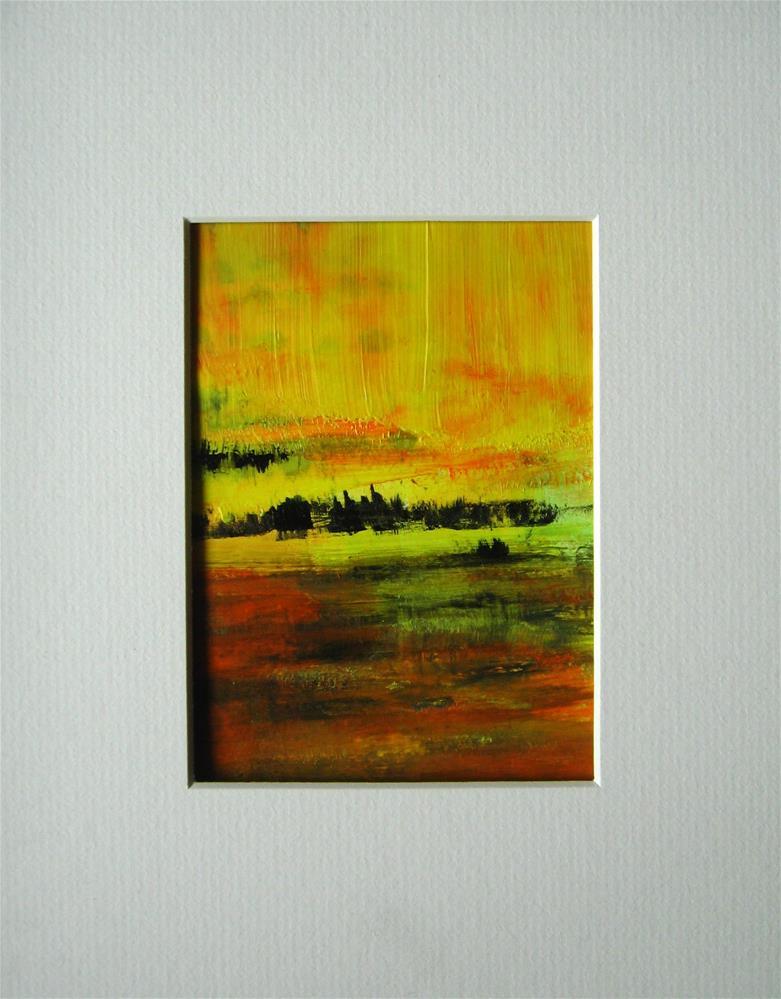 """Yellow, Sienna, Black"" original fine art by Alina Frent"