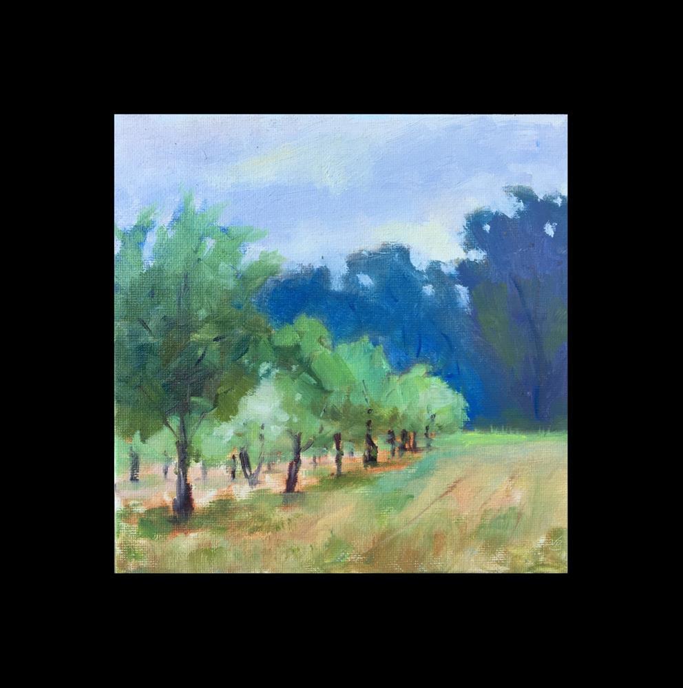 """Little Orchard at Whiteley Landing"" original fine art by Victoria  Biedron"