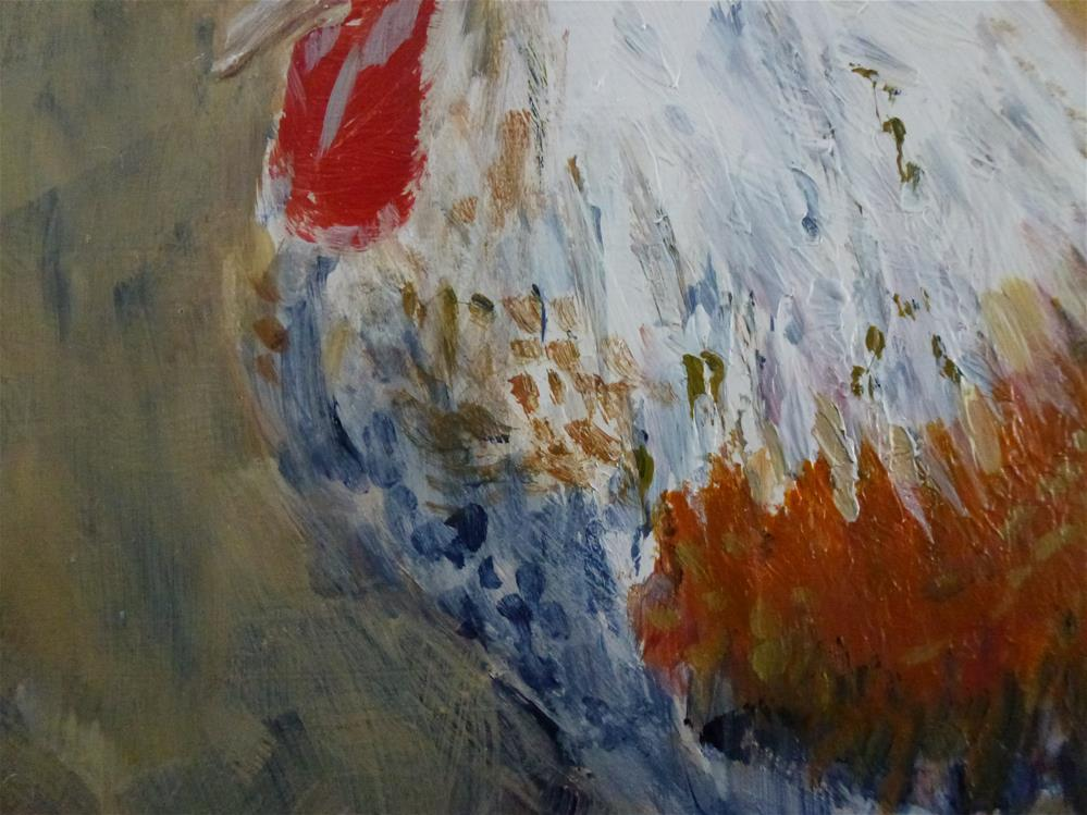 """Rooster"" original fine art by Judith Elder"