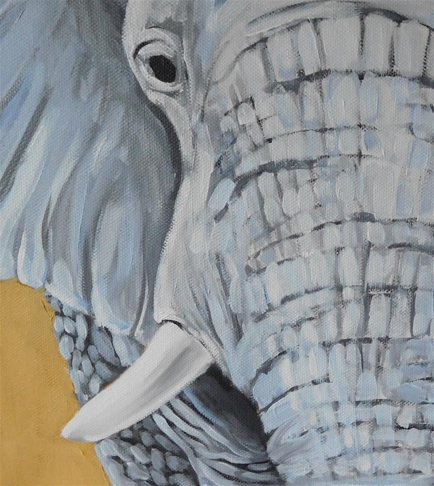 """E is for Elephant"" original fine art by Daryl West"