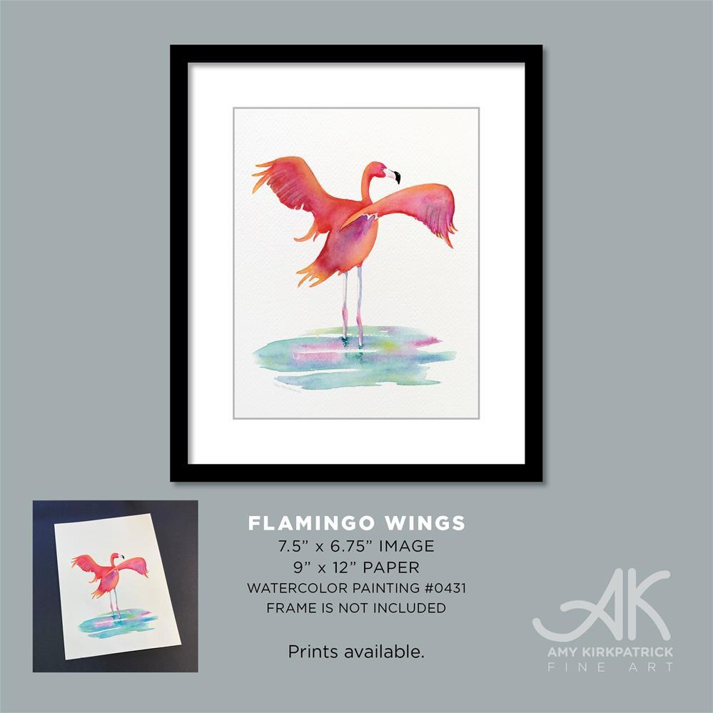 """FLAMINGO WINGS #0431 (Vertical)"" original fine art by Amy Kirkpatrick"