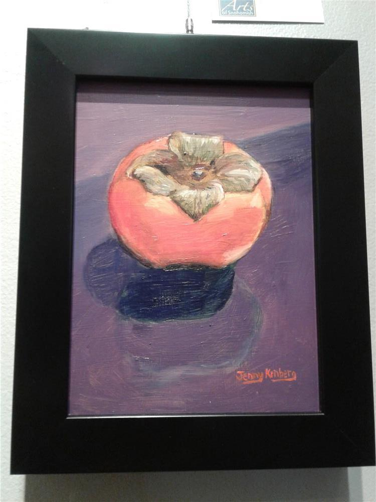"""Persimmon"" original fine art by Jenny Kinberg"