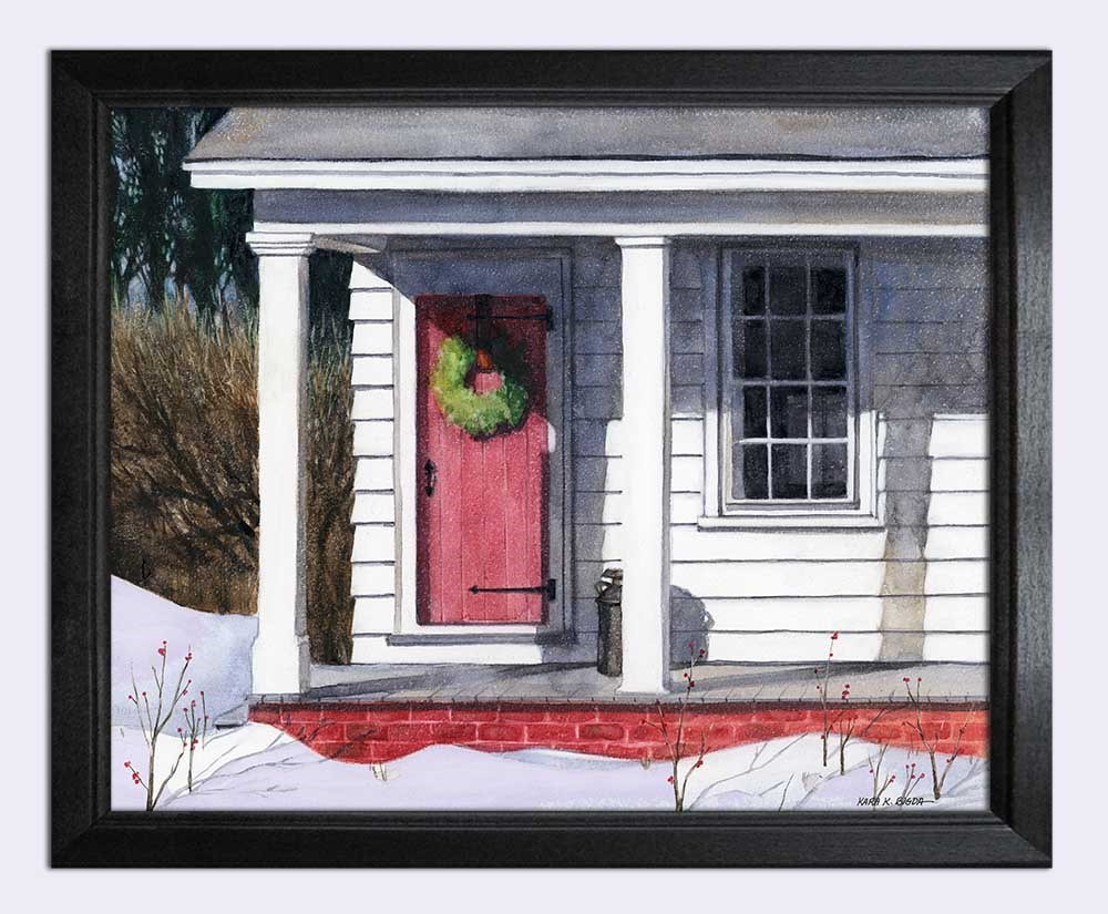 """Winter Sunlight"" original fine art by Kara K. Bigda"