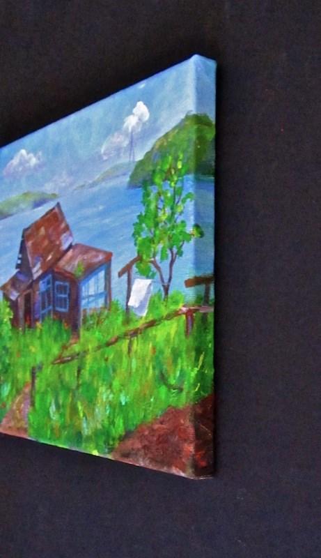 """Little House Near Amur Bay"" original fine art by Patricia Musgrave"