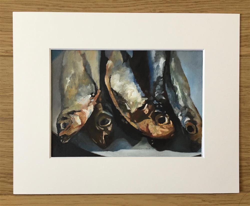 """Smoked Fish On A Plate"" original fine art by John Cameron"