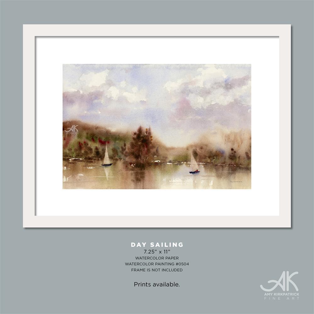 """DAY SAILING #0504"" original fine art by Amy Kirkpatrick"