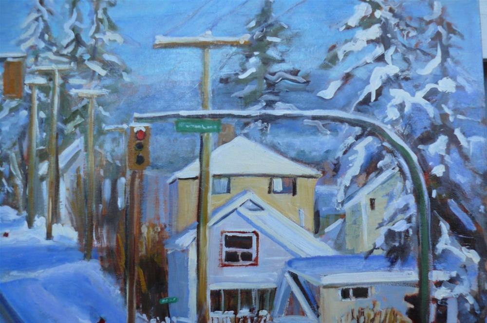 """1155 Winter Shadows, 24x36, oil"" original fine art by Darlene Young"