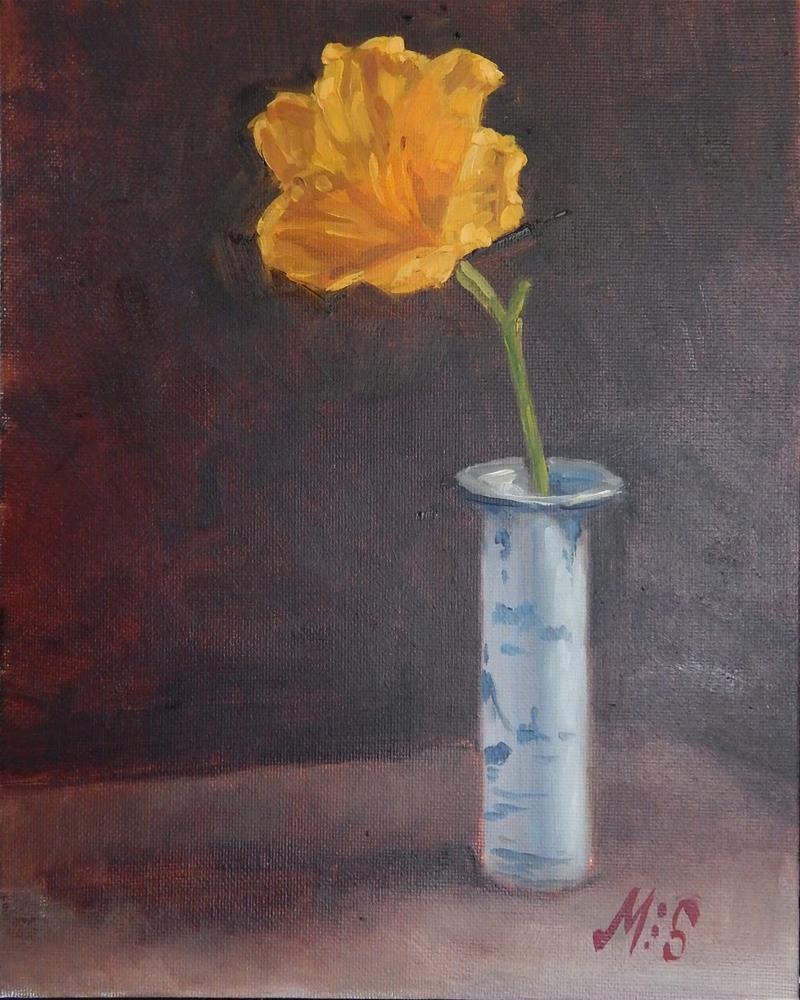 """Yellow Lily"" original fine art by Megan Schembre"