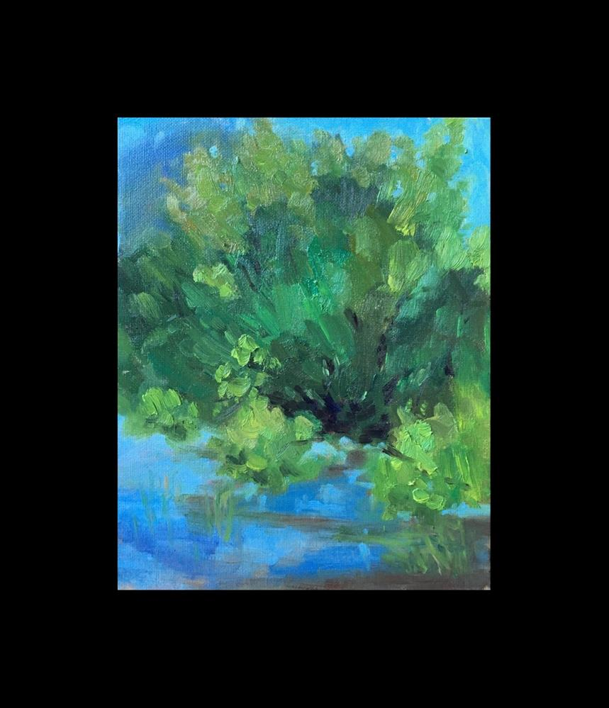 """On the Edge of the Pond"" original fine art by Victoria  Biedron"