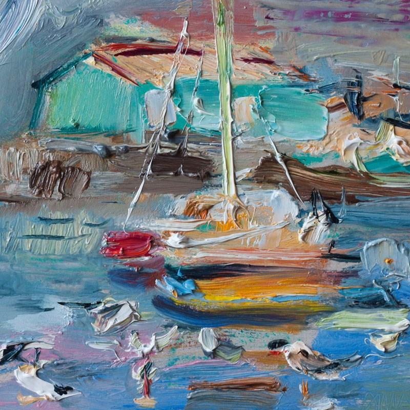 """The Pier and the Seagulls"" original fine art by Anna Fine Art"