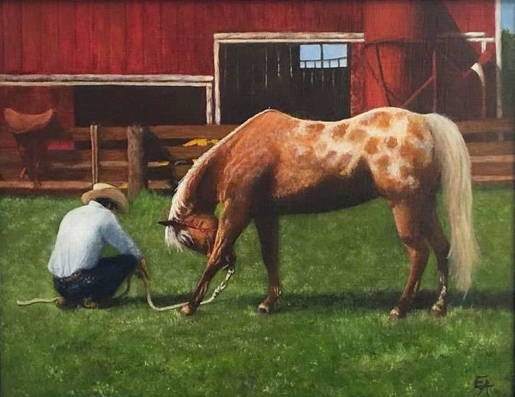 """Trust, Framed"" original fine art by Elizabeth Elgin"