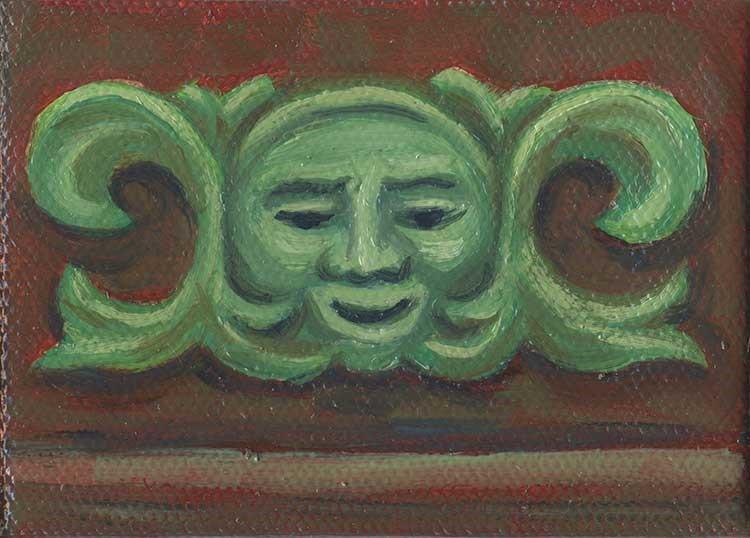 """Glasgow Greenman"" original fine art by Kim Victoria"