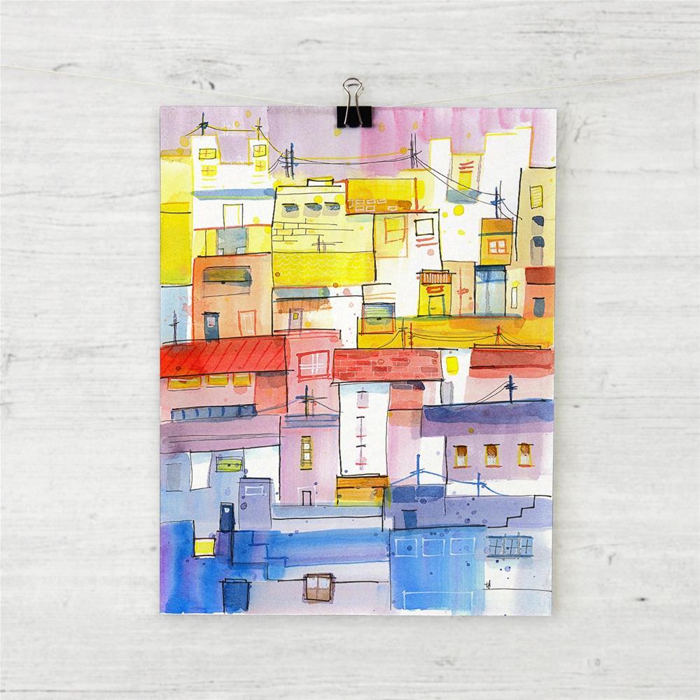 """""""O Town"""" original fine art by Tonya Doughty"""