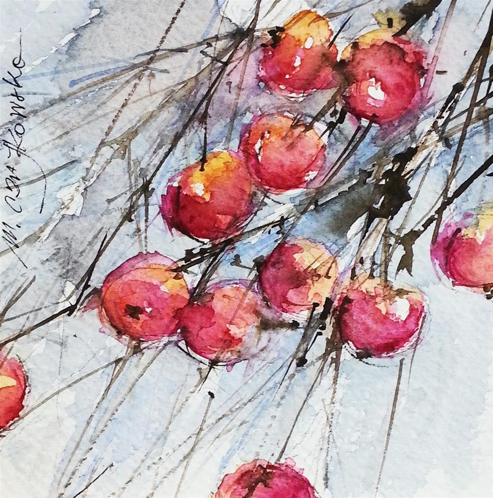 """Paradise apples"" original fine art by Marlena Czajkowska"