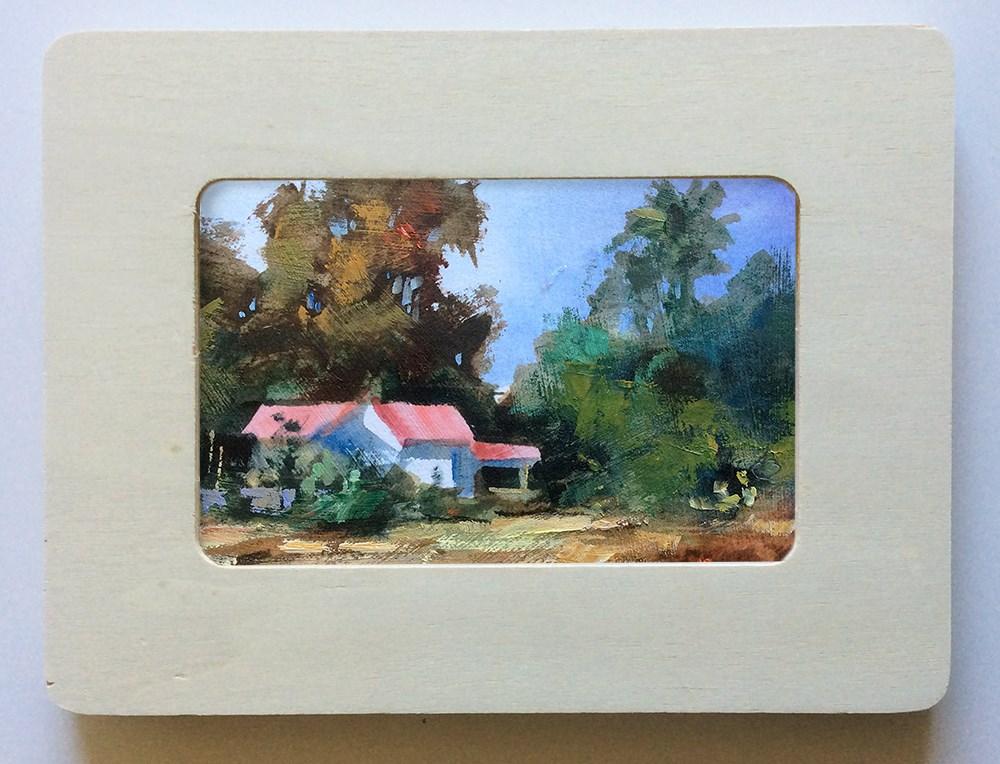 """COUNTRY HOME"" original fine art by Tom Brown"